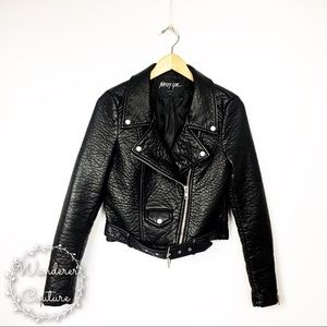 Nasty Gal Atomic Faux Leather Moto Jacket